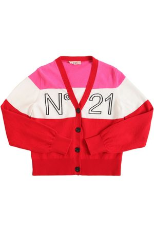 Nº21 | Niña Cárdigan De Punto De Algodón Con Logo Intarsia 10a