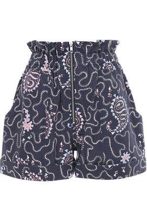"Isabel Marant | Mujer Shorts ""nawel"" De Algodón Estampados /multi 34"