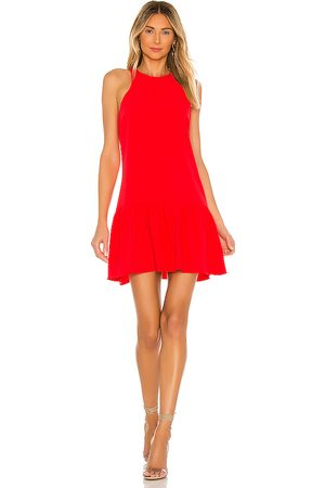 Amanda Uprichard Minivestido ezra en color rojo talla L en - Red. Talla L (también en M, S, XS).