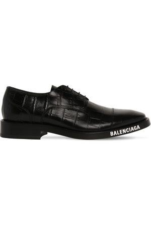 Balenciaga   Hombre Zapatos Derby De Piel Grabada Cocodrlo 39