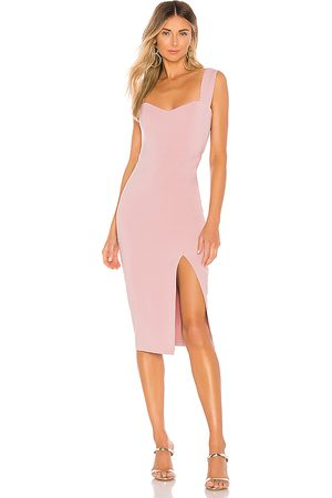 Nookie Vestido midi divine en color rosado talla L en - Pink. Talla L (también en M, S, XS).