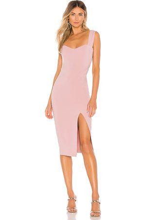 Nookie Vestido midi divine en color rosado talla M en - Pink. Talla M (también en XS).