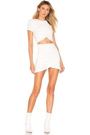 superdown Minivestido de tipo jersey maureen en color talla L en - White. Talla L (también en M, S, XL, XS, XXS).