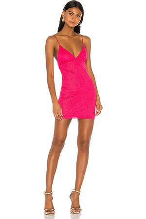 superdown Minivestido brillante sydney en color talla M en - Pink. Talla M (también en XXS, XS, S, XL).