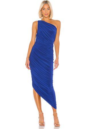 Norma Kamali Vestido largo diana en color azul talla L en - Blue. Talla L (también en M, S, XS).