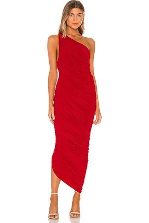 Norma Kamali Vestido largo diana en color talla L en - Red. Talla L (también en M, S, XS, XXS).