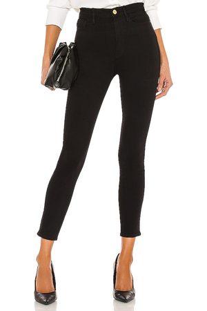 Frame Pantalones vaqueros de pitillo de tiro alto ali en color negro talla 24 en - Black. Talla 24 (también en 25, 26, 27, 28, 29).