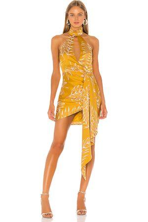 Camila Coelho Minivestido antonia en color amarillo talla S en - Yellow. Talla S (también en XL, XS, XXS).