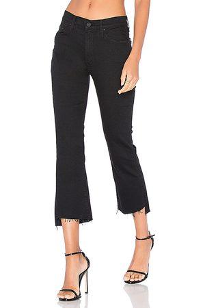 Mother Pantalones vaqueros tipo pirata bajo desigual insider en color negro talla 23 en - Black. Talla 23 (también en 24, 25, 26, 27