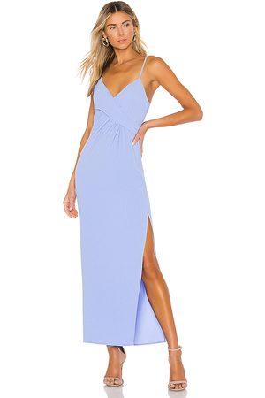 NBD Vestido largo saanvi en color azul talla S en - Blue. Talla S (también en XL, XS).