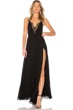 Michael Costello Vestido largo justin en color talla L en - Black. Talla L (también en M).
