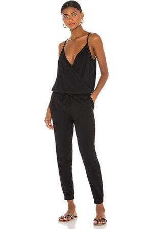 Bobi Supreme jersey surplice jumpsuit en color talla L en - Black. Talla L (también en M, S, XS).
