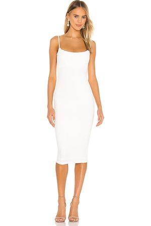 Nookie Vestido midi bailey en color talla M en - White. Talla M (también en S, XS).