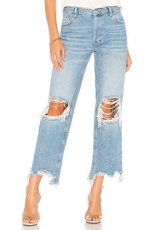 Free People Maggie straight jean en color azul talla 24 en - Blue. Talla 24 (también en 25, 26, 27, 28, 29, 30, 31).