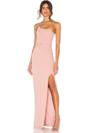 Nookie Vestido largo lust one shoulder en color talla L en - Blush. Talla L (también en M, S).
