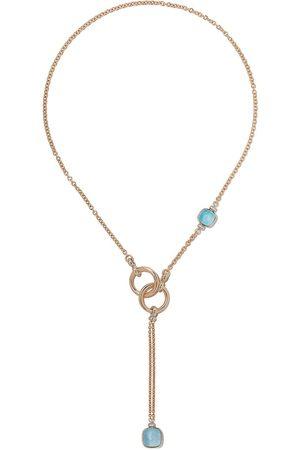 Pomellato Collar en oro rosa y oro blanco de 18kt con apliques de topacio y diamantes