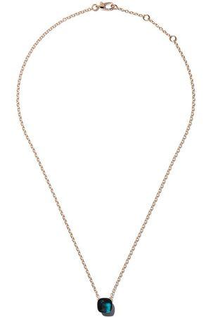 Pomellato Mujer Collares - Collar Nudo con cadena y topacio azul en oro rosa 18kt y oro blanco 18kt