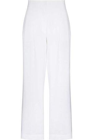 ASCENO Rivello wide leg linen trousers