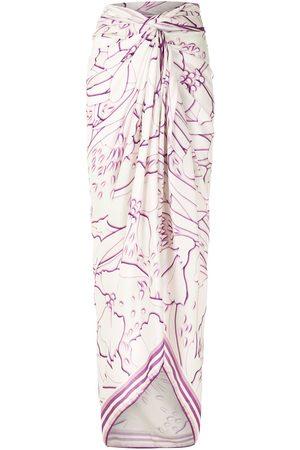 AMIR SLAMA Abstract-print long sarong