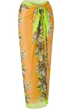 AMIR SLAMA Rose-print long sarong
