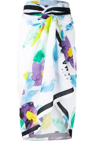 AMIR SLAMA Abstract floral-print mid-length sarong