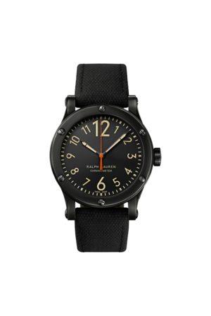 Ralph Lauren Hombre Relojes - Cronómetro de acero de 39 mm