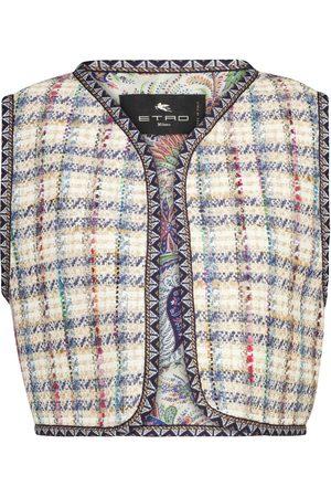 Etro Chaqueta de tweed mezcla de algodón