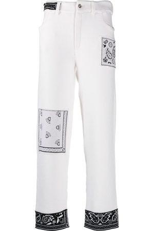 Barrie Pantalones bootcut con motivo de bandana