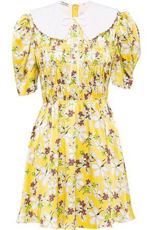 Miu Miu Vestido con estampado floral