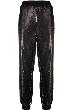 Styland Pantalones de chándal con lentejuelas