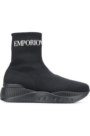 Emporio Armani Zapatillas altas estilo calcetín
