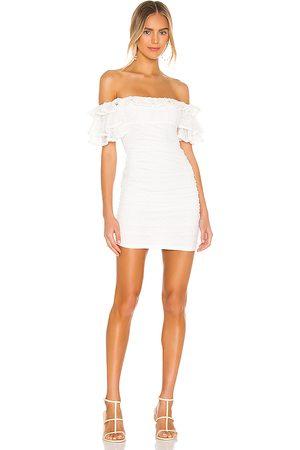 Camila Coelho Minivestido eva en color talla L en - White. Talla L (también en S, M, XL).