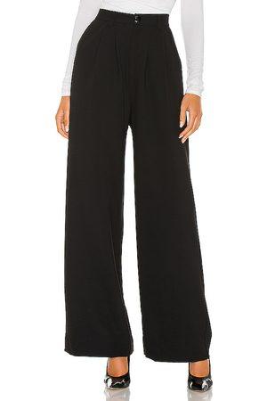 NONchalant Pantalón pierna ancha fabi en color talla L en - Black. Talla L (también en XS, S, M).