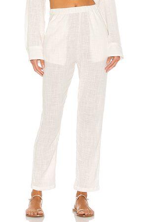 Indah Pantalones cypress en color blanco talla L en - White. Talla L (también en S, XS, M).