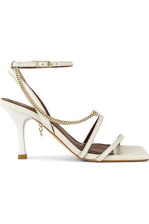 ALOHAS Tacón straps chain en color blanco talla 35 en - White. Talla 35 (también en 36, 37).