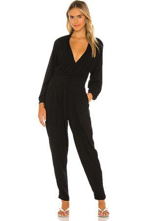 Indah Mujer Monos y Petos - Gianyar pleated jumpsuit en color talla L en - Black. Talla L (también en XS, S, M).