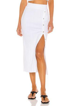 THE RANGE Falda midi wave en color talla L en - White. Talla L (también en S).