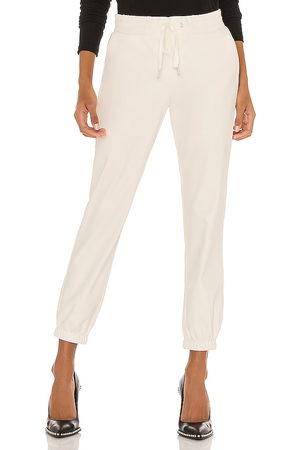 n:philanthropy Scarlett leather jogger en color blanco talla L en - White. Talla L (también en S).