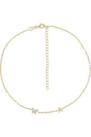 Adina's Jewels Collar pave en color oro metálico talla D en - Metallic Gold. Talla D (también en F, H, I, P).