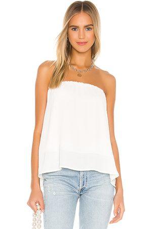 krisa Split back strapless top en color talla L en - Cream. Talla L (también en XS, S, M).