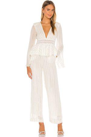 NBD Tyde jumpsuit en color blanco talla L en - White. Talla L (también en XXS, XS, S, M, XL).