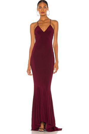 Norma Kamali Vestido largo en color vino talla L en - Wine. Talla L (también en XS, S, M).
