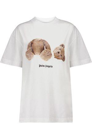 Palm Angels Camiseta de punto fino de algodón