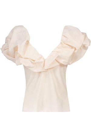 JOHANNA ORTIZ Top Embrace Chaos de algodón