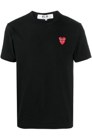 Comme des Garçons Camiseta con bordado de corazones