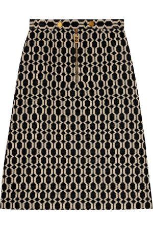 Gucci Falda de tweed con efecto óptico