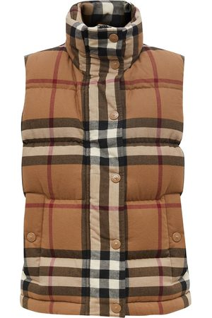 Burberry Check cotton flannel puffer gilet