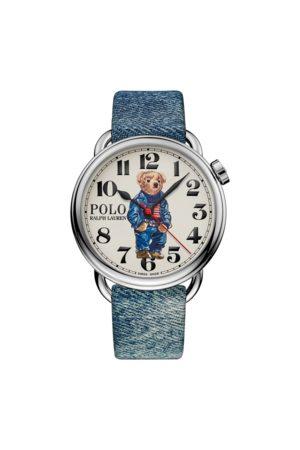 Polo Ralph Lauren Reloj de 42 mm con bandera y Polo Bear