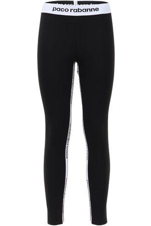 Paco rabanne | Mujer Leggings Stretch Con Logo Xs