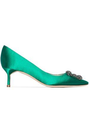 Manolo Blahnik Zapatos Hangisi con tacón de 50mm